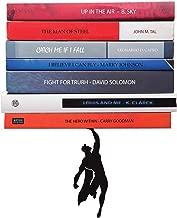 Artori Design Book Shelf | Black Metal Superhero Floating Shelves | Invisible Book Stack | Hidden Mount Shelf | Unique Wall Shelf | Cute Book Stand | Living Room Wall Decor | Wall Mount Shelf