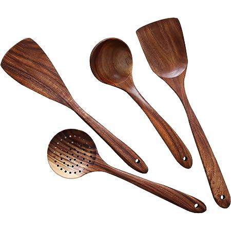 Wooden Spoon Kitchen Supplies Kitchen Cooking Mini Wood Spoon Blockware Set Lin