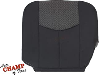 Auto Champ Of Texas 03-04 Chevy Avalanche Z71 Z66 LS -Driver Side Bottom Cloth Seat Cover Dark Gray