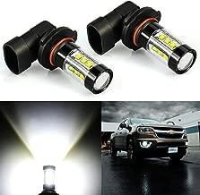 JDM ASTAR Extremely Bright 3200 Lumens Max 80W High Power H10 9145 9140 9050 9155 LED Fog Light Bulbs for DRL or Fog Lights, Xenon White
