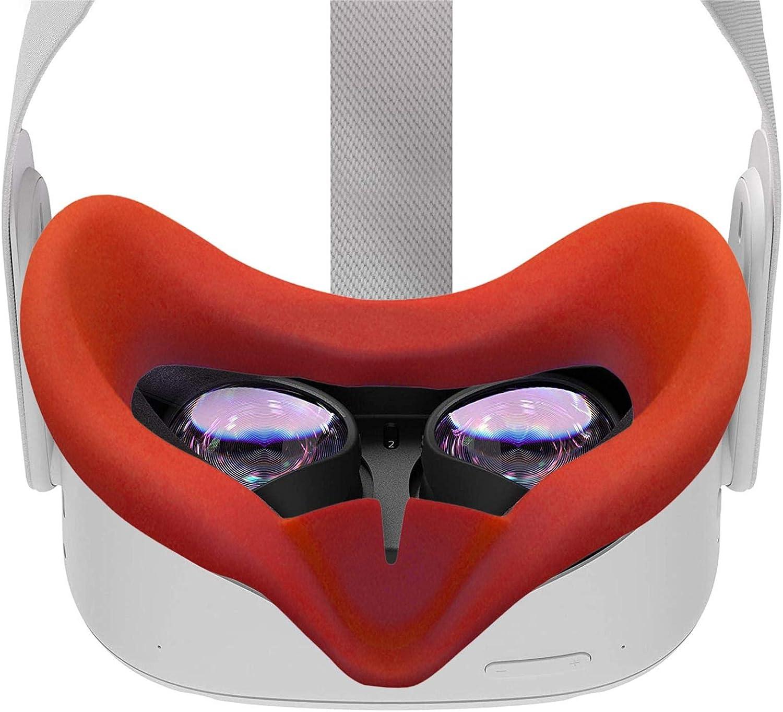 Xeroy Cubierta De Silicona VR Eye Almohadilla Ocular C/ómoda A Prueba De Sudor para Oculus Quest 2 Cubierta De Coj/ín Ocular Transpirable
