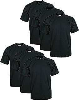 Men's 6-Pack Heavyweight Cotton Short Sleeve Crew Neck T-Shirt