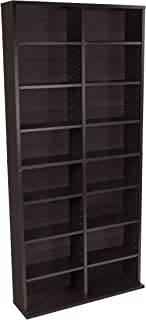 Best Atlantic Oskar Adjustable Media Cabinet - Holds 464 CDs, 228 DVDs or 276 Blu-rays, 12 Adjustable and 4 fixed shelves PN38435719 in Espresso Review