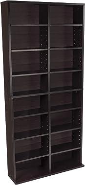 Atlantic Oskar Adjustable Media Cabinet - Holds 464 CDs, 228 DVDs or 276 Blu-rays, 12 Adjustable and 4 fixed shelves PN384357