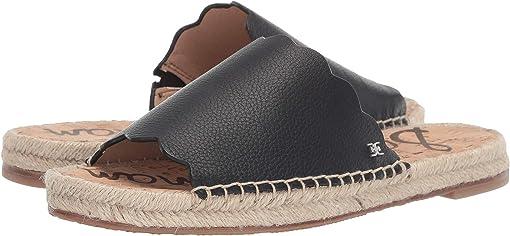 Black Botalatto Tumbled Leather