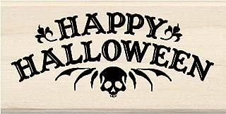 Inkadinkado 60-01121 Happy Halloween Wood Stamp, Black