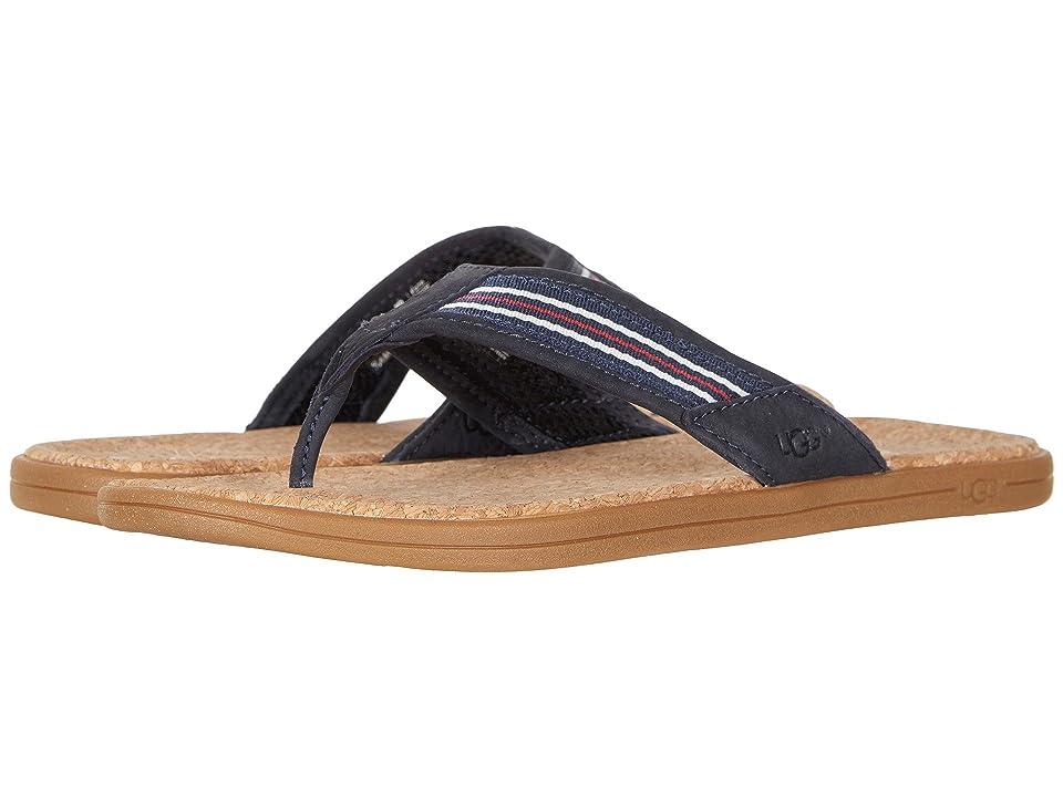 UGG Seaside Flip (Navy Stripe) Men