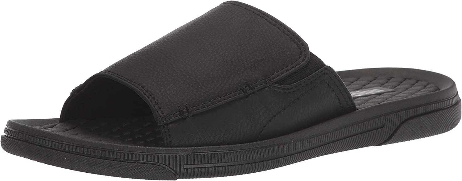 Unlisted by Kenneth Cole Men's Slide Year-end annual account Pacey Long Beach Mall Sandal Stretch