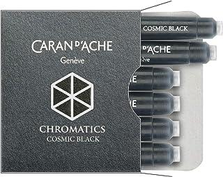 Cartucho para Caneta Tinteiro, Caran D'Ache, 8021.009, Preta, pacote de 6