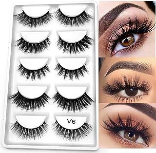 a40d68f1604 5 Pairs 3D Mink Hair False Eyelashes Mixed Cross Long Thick Flutter Wispy  Natural Lashe Handmade