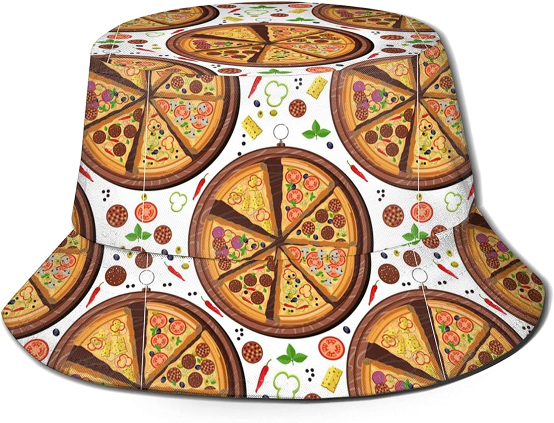 Directly managed store Rapid rise ZREXUO Fast Food Unisex Print Bucket Single-Side-Wear Fashion Ha