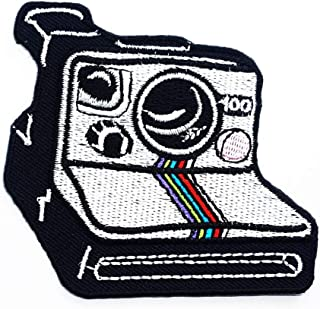 Retro Camera Polaroid Photography Cartoon Children Kid Patch Clothes Bag T-Shirt Jeans Biker Badge Applique Iron on/Sew On...