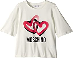 Moschino Kids - Logo Heart Graphic T-Shirt (Big Kids)