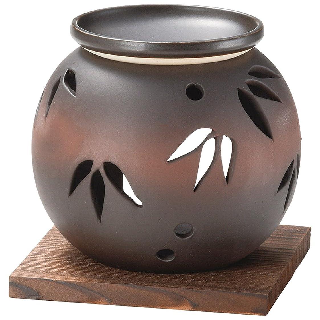 表示ナイトスポットバンガロー山下工芸 常滑焼 茶窯変笹透かし茶香炉 11×11.5×11.5cm 13045620