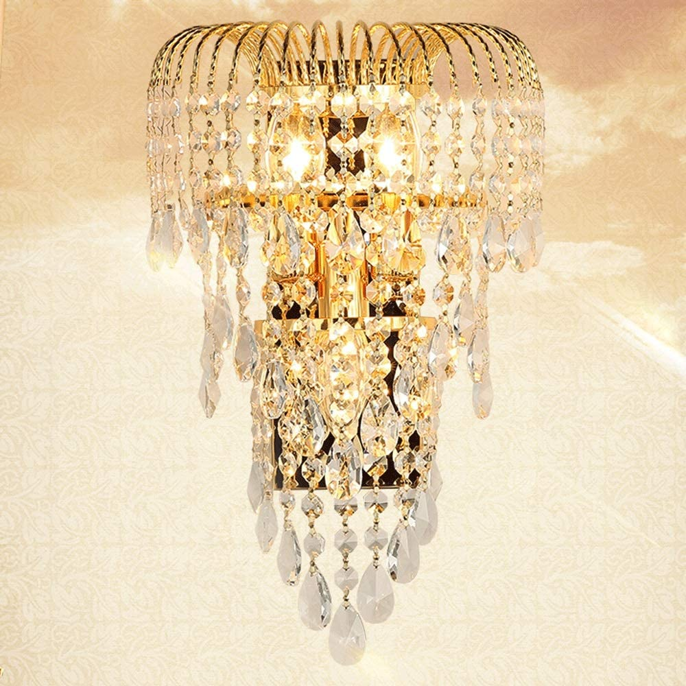 JJK Spring new work - Crystal Decor Luxury K9 67% OFF of fixed price Living Lamp Led Wall Gold