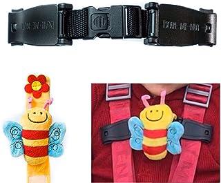 Buggy Buddy Brust-Clip Escape-me-not f&uumlr Kinderwagen-Gurte Sicherheitsclip, der verhindert, dass Kinder die Arme aus dem Gurt ziehen