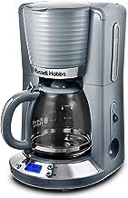 Russell Hobbs Digitale Kaffeemaschine Inspire grau, programmierbarer Timer, 1,25l Glaskanne, bis 10 Tassen, Warmhalteplatte, Abschaltautomatik, 1100W, Filterkaffeemaschine 24393-56 [Amazon Exklusiv]