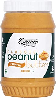 Diruno Classic Peanut Butter Crunchy 1kg (Gluten Free, Non-GMO)