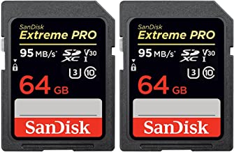 SanDisk 2 Pack of Extreme PRO SDXC 64GB UHS-1 Memory Card (SDSDXXG-064G-ANCIN)