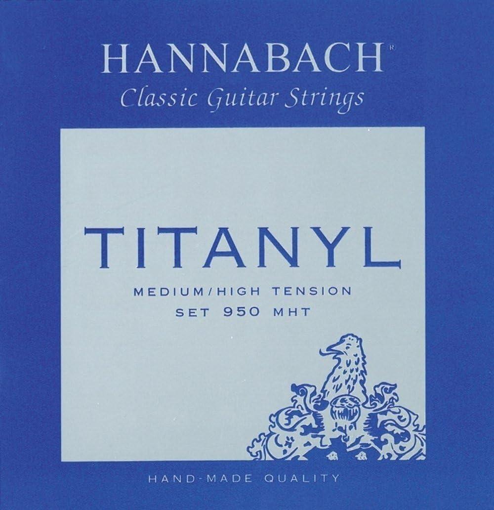Hannabach Cuerdas para guitarra clásica, Serie 950 Tensión Media/Alta Titanyl - juego 3 cuerdas bajo (D4/Re4+A5/La5+E6/Mi6)