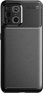 Toppix 対応: Oppo Find X3/ X3 Pro ケース, 保護カバーTPU, 保護バンパー 弾力性付き [特化した] [カーボンルック] 耐衝撃バンパー カバー (ブラック)