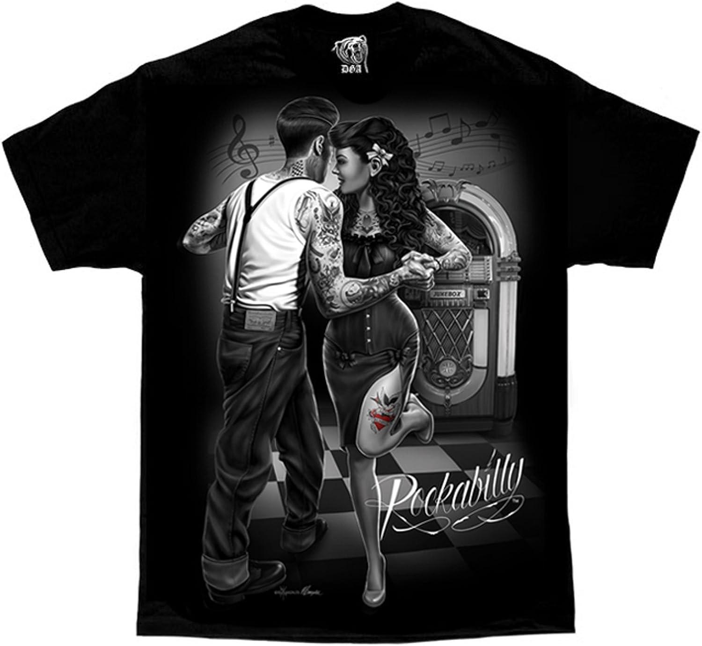 Rockabilly Jukebox Greaser Super sale period limited Selling Punk Tattoo Gonzales Me DGA David Art