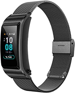 XIHAMA 18mm Stainless Steel Huawei Watch Strap, Quick Release Breathable Watch Band Compatible with Huawei Watch Huawei Fit Withings Activite (Black)