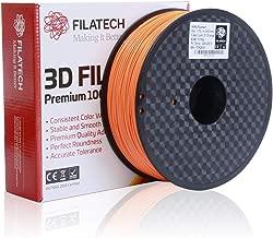Filatech 3D Printing Hips Filament, 1.75 mm +/- 0.05 mm, 1.0 Kg Spool, 100% Virgin Material, Made in UAE Orange Hips120