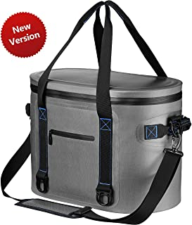 Homitt Soft Cooler Updated Version, 30 Can Soft Pack Cooler Insulated Soft Sided Cooler with Heavy Duty Leakproof TPU Material and Closed-Cell Foam for Taking Lunch, Camping, Picnic, Trip to Beach