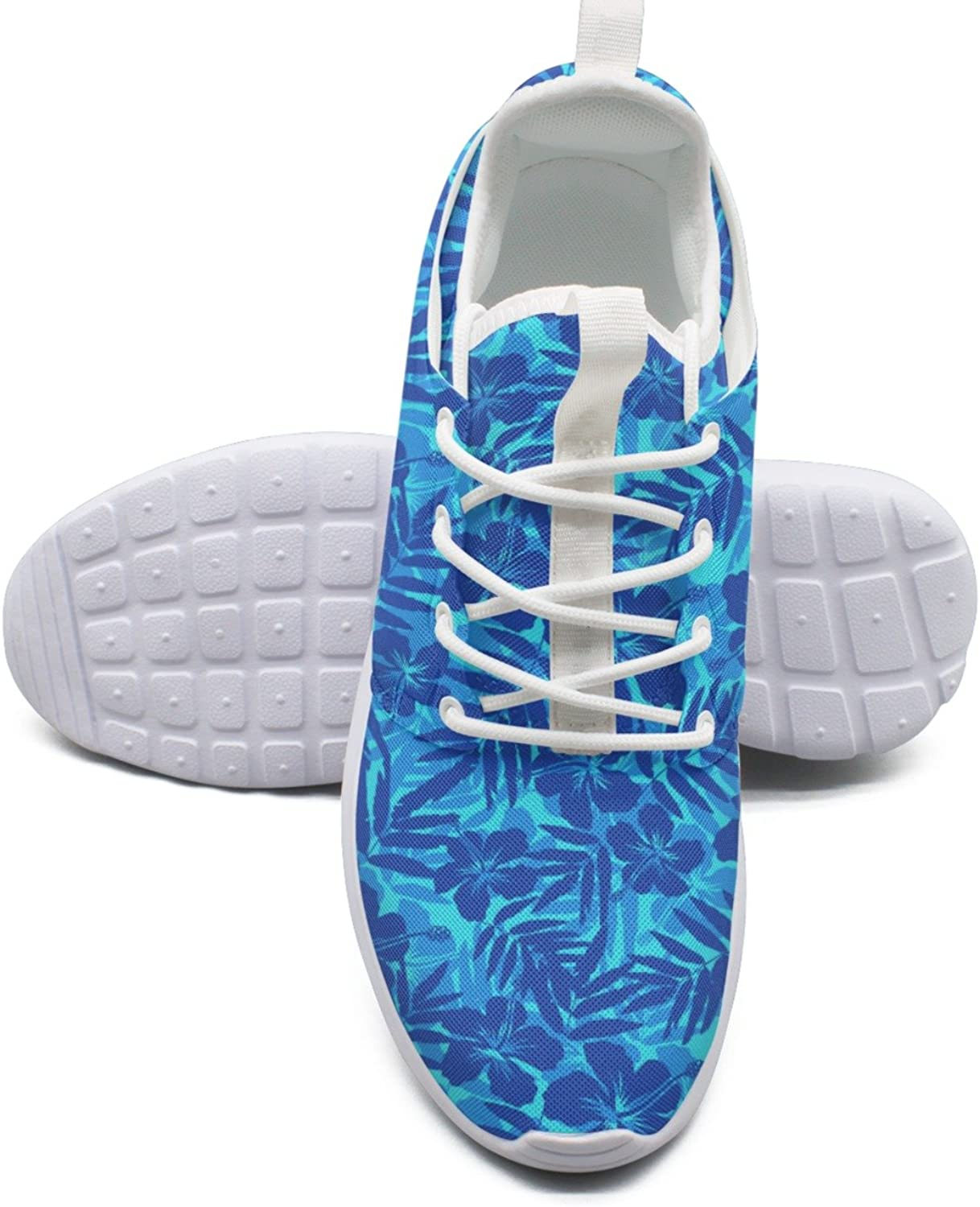 ERSER bluee Tropical Flowers Silhouettes Free Running shoes Women
