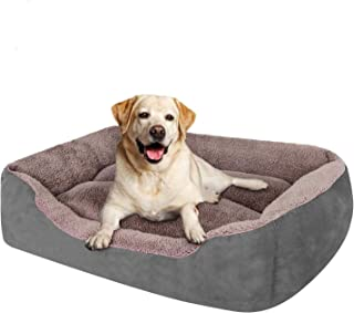 KOZI PET Dog Beds for Dog & Cats, Rectangle Pet Bed Thickened Enough with Soft Coral Fleece and ,Durable Dog Sofa Pet Bed...