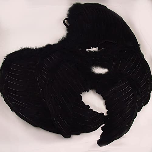 3 Taille Feather Angel Wings  Medium 65cm (noir, Medium)