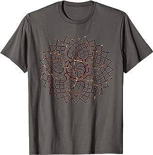 Red Lava Mandala Geometry Sacred Gaia Art Yoga Mantra Gift