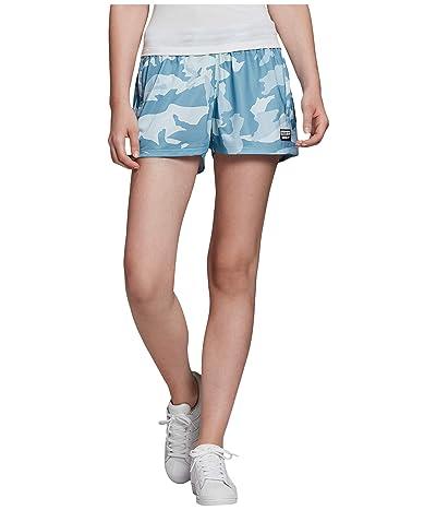 adidas Originals Shorts (Sky Tint/Shade Blue/Easy Blue) Women