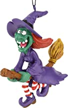 Tree Buddees Spooky Flying Witch on Broomstick Halloween Christmas Ornaments