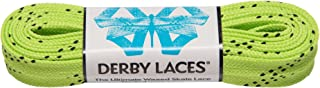 Derby Laces Lime Green 84 Inch Waxed Skate Lace for Roller Derby,  Hockey and Ice Skates,  and Boots