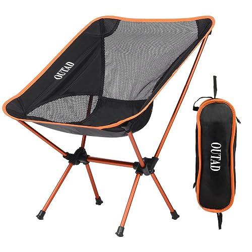 Silla de Camping Plegable con bolsa, plegable y portátil, carga hasta 150 KG,