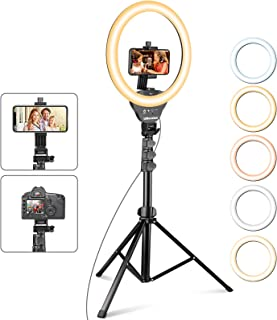 UBeesize 12'' Ring Light with Tripod, Selfie Ring Light with 67'' Tripod Stand, Light Ring for Video Recording&Live Streaming(YouTube, Instagram, TIK Tok), Compatible with Phones, Cameras and Webcams