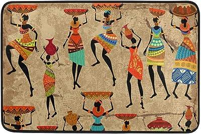 Vintage Women Indian African Bohemian Doormats Floor Mats Shoe Scraper for Home Indoor Entrance Way Front Door 23.6 by 15.7 Inches 16 24 inch
