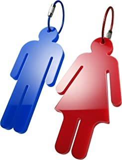 Men's & Women's Acrylic Restroom Keychain Tags - Perfect for designating Bathroom Keys at The Office or in The Classroom!...
