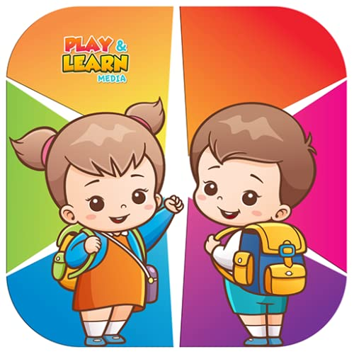 Niños aprendiendo juegos, nombre de color para pequeños aprendices.