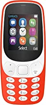 IKALL K3310 Dual Sim Mobile with Money Detector Light, 800 mAh Battery Capacity - Red