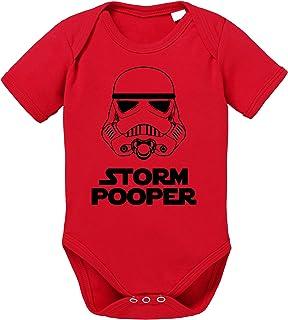Tee Kiki Storm Pooper Sprüche Baby Strampler Bio Baumwolle Body Jungen & Mädchen 0-12 Monate