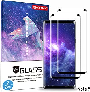 Galaxy Note 9 Screen Protector, (2-Pack) Tempered Glass Screen Protector [Force Resistant up to 11 pounds] [Easy Bubble-Free] [Case Friendly] for Samsung Note 9 (Released in 2018)
