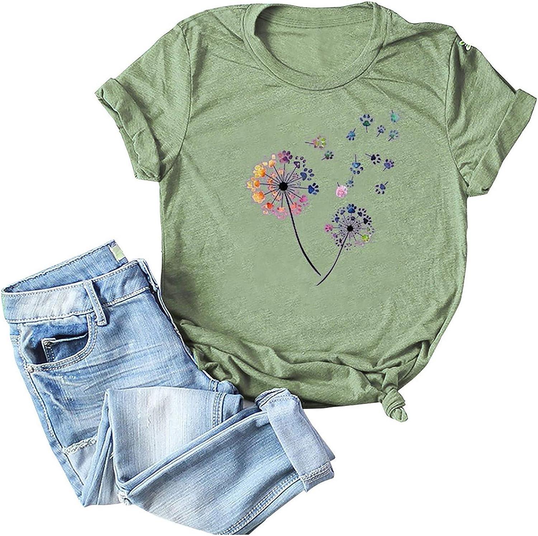AODONG t Shirts for Women Cute Women's Comfy Casual Twist Knot Tunics Tops Blouses Tshirts Green