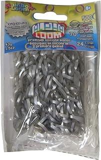 Rainbow Loom Alpha Bands - Craft Accessory, Silver