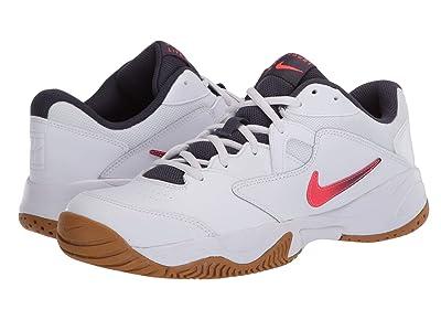 Nike Court Lite 2 (White/Laser Crimson/Gridiron/Wheat) Men