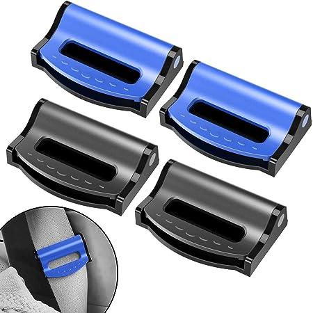 Fibbia per Cintura di Sicurezza con Linguetta in Metallo Sedile Automatico in Metallo Universale per la Maggior Parte dei Veicoli Jackallo 4Pcs Clip per Cintura di Sicurezza per Auto