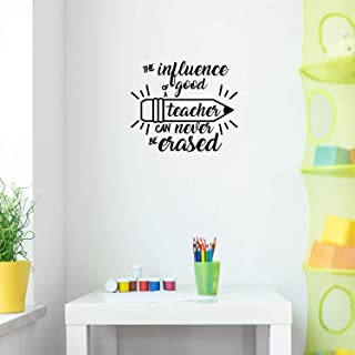 Vinyl Wall Art Decal - The Influence of A Good Teacher Can Never Be Erased - 17