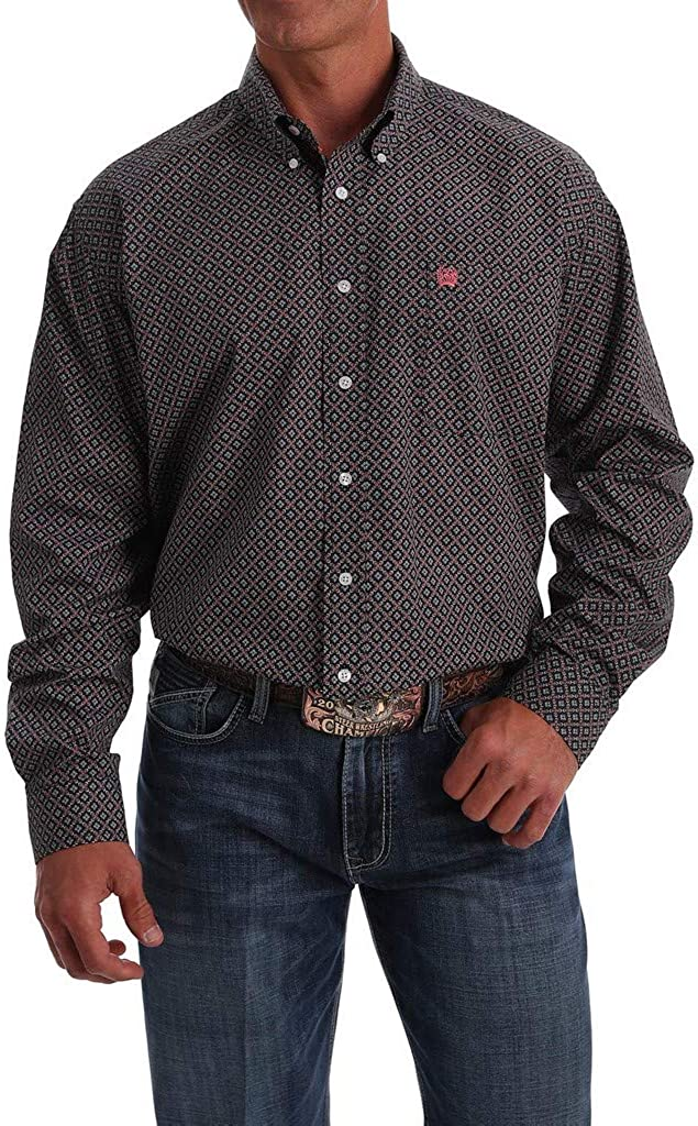 Cinch Men's Multi Floral Geo Print Long Sleeve Western Shirt